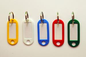 406 Key Hangers, green, 10 pcs