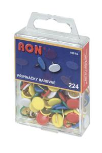 224 EZ Drawing Pins, plastic covered, mixed coours